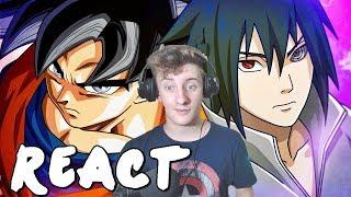 REACT Goku VS. Sasuke | Torneio De Titãs Part. Yuri Black (7 Minutoz)