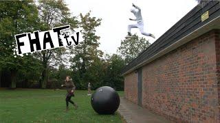 Red Bull Astronaut Stunt Epic Roof Jump Fail (ORIGINAL) - Fhat TV