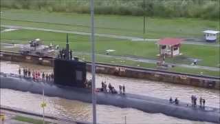 US Nuclear Submarine passes through Panama Canal | Sunday November 1, 2015