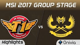 SKT vs GAM Highlights MSI 2017 Group Stage SK Telecom T1 vs Gigabyte Marines by Onivia