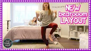 REARRANGING MY BEDROOM & CLEANING and ORGANIZING OUR BASEMENT!