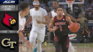 Louisville vs. Georgia Tech Condensed Game   2018-19 ACC Basketball