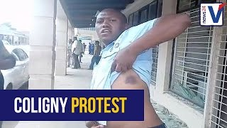 WATCH: By-stander says he was brutally attacked by Coligny protesters