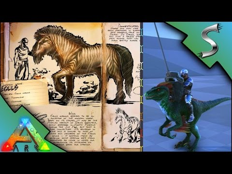EQUUS HORSE CREATURE MINI MOBILE BASE LANCE WEAPON PREVIEW Ark Survival Evolved