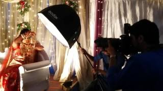 Behind the scene of wedding photoshoot by Sanjoy Shubro
