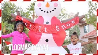 VLOGMAS DAY #4 | BLOWING UP FROSTY AND DECORATING STOCKINGS W/ LACY'S FILES