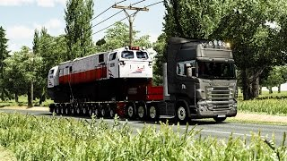 ETS2 - Scania R730 Oversize Trailer In Java Mountain Indonesia