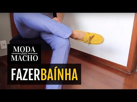 Como Fazer Baínha de Calça Jeans ou Social em 2min Moda para Macho