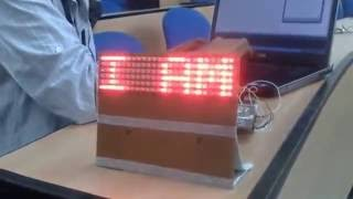 Electronics project How to make LED Display Board   B Tech Projects   Final Year Projects   YouTube