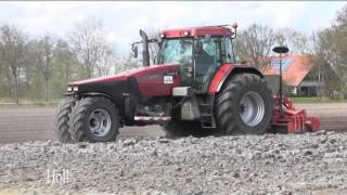 Farm Machinery At Work In Europe In Spring 2015