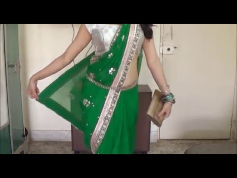 Wear Diva Saree within 3 Minutes:Simple Hot Sari Draping Step(Model Look)