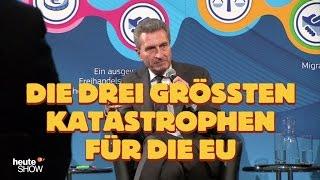 Hazel Brugger hat eine wichtige Frage an Günther Oettinger - heute-show | ZDF