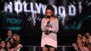 Ariana Grande - Wins Young Influencer Award  (iHeartRadio Music Awards 2014)