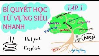 #1: Bí Quyết Học Từ Vựng Tiếng Anh Siêu Nhanh với Gốc Từ (Audio Edited) -GEO, -GRAPH