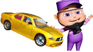 Five Little Babies Painting Cars | Learn Colors With Transport Vehicles | Nursery Rhymes Collection
