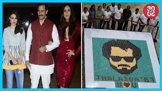 Kareena, Saif, Kunal Attend Soha's Book Launch | Fans Make Rajini's Portrait With 6700 Cupcakes