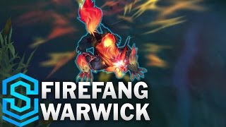 Firefang Warwick (2017 Rework) Skin Spotlight - Pre-Release - League of Legends