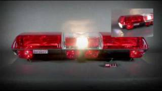 Wolo Infinity 2 Flashing Strobe Roof Mount Light Bar, Red - 7510-R