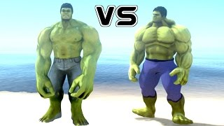HULK VS THE INCREDIBLE HULK - EPIC BATTLE