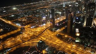 Amazing Night View Of Dubai From Burj Khalifa 124th Floor (Observation Desk)
