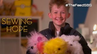 Sewing teddy bears for sick kids - meet 12 year old Campbell