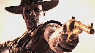 Mortal Kombat X - Erron Black NO MASK Intro, X Ray, Victory Pose, All Fatalities / Brutalities