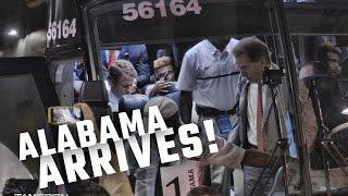 Watch Alabama arrive for a showdown with USC