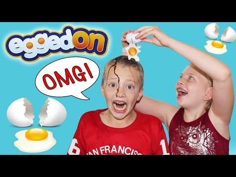 EGGED ON Extreme Messy Fun Food Challenge Family Game Night