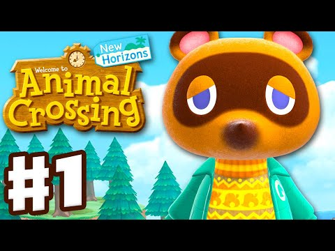 Animal Crossing New Horizons Gameplay Walkthrough Part 1 First Day on a New Island