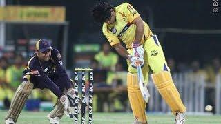 MS Dhoni Helicopter Shot in Kotla Stadium Delhi during CSK IPL Cricket