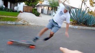 FLYING OFF A $1600 SKATEBOARD FAIL!!