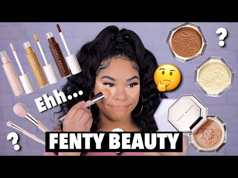 TESTING NEW FENTY BEAUTY CONCEALER & SETTING POWDER HOT OR NOT