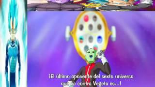 Vegeta vs Hit sub español