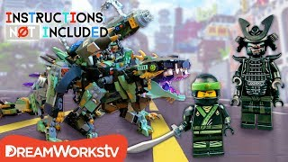 LEGO NINJAGO Mashup: Garma Mecha Man + Green Ninja Mech Dragon | INSTRUCTIONS NOT INCLUDED