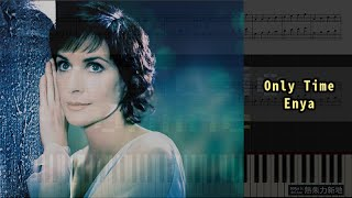 Only Time, Enya (Piano Tutorial) Synthesia 琴譜 Sheet Music