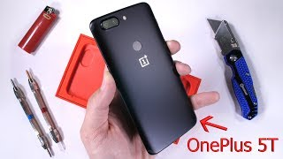 OnePlus 5T Durability Test! Scratch and Bend tested!