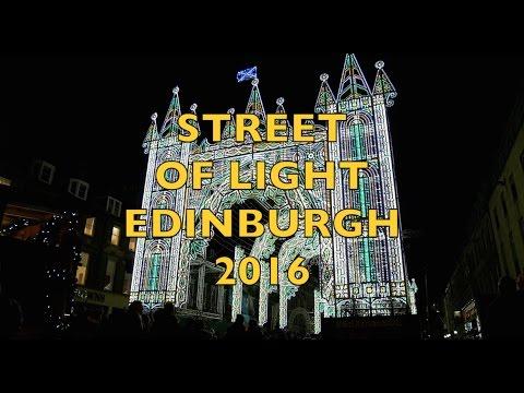 Street of light EDINBURGH 2016 on George Street (HD)