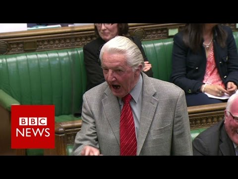 Dennis Skinner kicked out of Commons for calling David Cameron