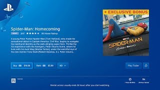 Renting a Movie | PlayStation Video