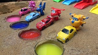 Learn Colors & Numbers with Disney Cars 3 Toys Lightning Mcqueen and Super Wings for Kids
