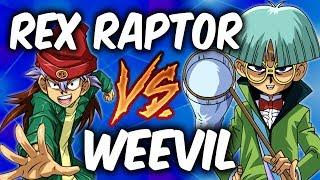 REX RAPTOR vs WEEVIL UNDERWOOD! (Yugioh Character Deck Duel!)