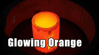 Induction Heating of Graphite Ring, Glowing Orange @ 1100 C