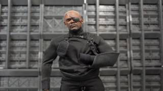 Hot Toys Nick Fury Captain America The Winter Soldier Sixth Scale Movie Masters Figure