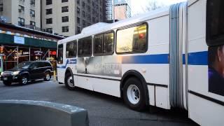 MTA New York City Bus 2000 New Flyer D60HF 1009 On The 1 Train Subway Shuttle