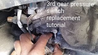 P1739 HOW TO REPLACE ACURA TL MDX TRANSMISSION 3RD GEAR  PRESSURE SWITCH HARD SHIFTING FIX TUTORIAL