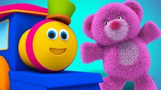 Bob The Train - teddy bear teddy bear turn around | nursery rhyme | childrens rhymes | 3d rhymes