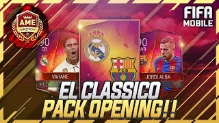 FIFA Mobile 2x 90+ OVR LA LIGA RIVALRY PULLS + El Clasico Packs! 27 ELITES!! INSANE PACK OPENING