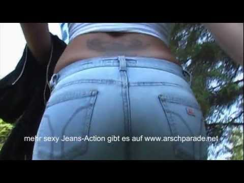 sexy Jeans Walking outdoor