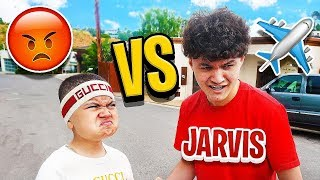 MY LITTLE BROTHER FLEW ALL THE WAY TO LA JUST TO CONFRONT JARVIS IN PERSON! (FAZE KAYS BROTHER) OMG!