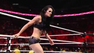 WWE RAW - Emma & Natalya Vs. Paige & AJ Lee(c) / Paige Heel Turn 2014